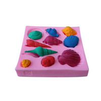 Wholesale liquid silicone mold wholesale - Durable Pink Silicone Mould Liquid Turn Sugar Mold Conch Shell Cake Decoration Silica Gel Baking Moulds Hot Sale 4 3dy B