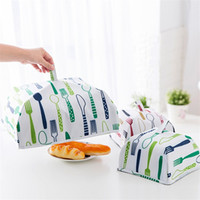 Wholesale table food cover - Portable Home Insulated Food Cover Dustproof Foldable Rice Covers With Aluminu Foil Oxford Fabric Table Kitchen Accessories 4 9zh2 YY