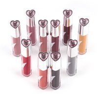 Wholesale kissing lips for sale - KISS BEAR Matte Liquid Lipstick Colors Beauty Women Magic Color Waterproof Long Lasting Popular Makeup Heart Lip Gloss Sets