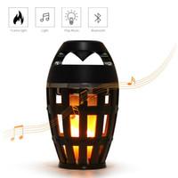 Wholesale S Mart Bluetooth Speaker Flame Wireless Led Lamp Fire Light Speaker Outdoor Waterproof Speakers Light for Iphone X Samsung