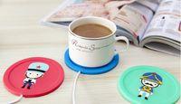 Wholesale Pc Heater - Silicone Coasters Cups Thermos pad USB Coffee Mug Heating cup mats USB Warmer Heater for Milk Tea Coffee Mug Free DHL