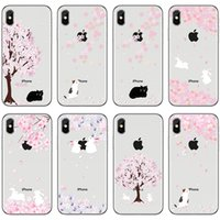 Wholesale iphone cherry blossom cases for sale – best For Apple iphone X S Plus S Samsung Galaxy S8 S9 Note Cherry Blossom Soft Clear TPU Painted Phone Case Back Silicone Cover Shell
