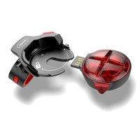ingrosso luci del freno posteriore della bici-Luce posteriore per bicicletta a rilascio rapido per bici Luce di induzione frenata automatica MTB Ciclismo carica LED Sicurezza Lampada da corsa