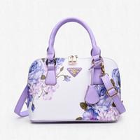Wholesale Trend Shell Bag - New fashion women handbags trend printing shell Bag sequined Flower Lady Bag Shoulder Bag simple handbag