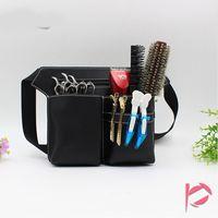 Wholesale hairdressing scissor tool bag - Hair Scissor Bag Hairdressing Tool Bag Barber Scissor Holster Pouch Clips Comb Hair Brush Case Shoulder Belt Hair Tool Case