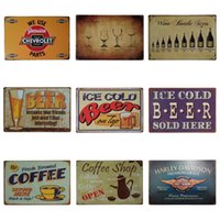 Wholesale digital art designs for sale - Drinking Beer Theme Design Tin Poster Antique Style Iron Painting For Night Club KTV Hang Art Tins Sign New Arrival cm Z