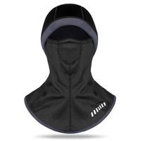 chapéus de snowboard venda por atacado-2018 Engrossar Inverno Ciclismo Máscara Facial Ski Cap Bicicleta Rosto Térmica Lã Cachecol Snowboard Escudo Chapéu