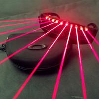 Wholesale dj light wireless resale online - Led Mask Party DJ Led Mask Quick Flashing Wireless Laser Glasses Luminous Lighting Glowing Toys for Dance DJ