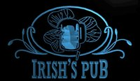 Wholesale irish neon bar signs - LS675-b-Irish-s-Pub-Bar-Club-Neon-Light-Sign Decor Free Shipping Dropshipping Wholesale 8 colors to choose