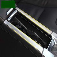 ingrosso acciaio inossidabile-Di alta qualità 2 PZ In acciaio inox Per Volvo S60 / S60L / V60 / XC60 portabicchieri box box decorazione argento Accessori