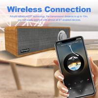 barra de som do laptop venda por atacado-Smalody SL-50 Sem Fio Bluetooth Speaker 8 W Portátil Soundbar De Madeira Forte Bass Sound Music Subwoofer Para Tablet PC Portátil