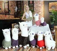 Wholesale girls stuff animals resale online - 28 CM Kid Plush Toy Alpaca Stuffed Doll kids Llama Brinquedos Animal Cartoon Toys Kids Girls Christmas Gift cute home decor FFA1139