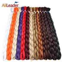 Wholesale blond braided hair for sale - Group buy AliLeader Kanekalon Jumbo Braid Hair Inch G Crotchet Braids Pure Color Synthetic Braiding Hair Black Blond Pink Purple
