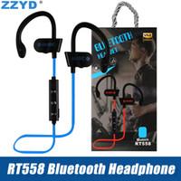 bluetooth-наушники оптовых-ZZYD RT558 Bluetooth-наушники Ушной крючок Беспроводные Bluetooth-гарнитуры с шумоподавлением Sweatproof спортивные наушники для iPhone Xs X 7 8 Samsung