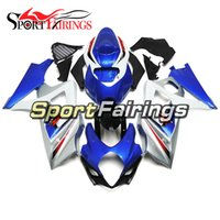 Wholesale sportbike bodywork resale online - ABS Plastics Blue Silver Black Complete Motorcycles Fairing Kit For Suzuki GSXR1000 K7 Year Injection Sportbike Full Bodywork New