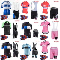 Wholesale team sky jersey bib - ORBEA SKY team Cycling Cycling Short Sleeves jersey bib shorts sets new women outdooor high quality Breathable Mountain Bike Clothes D1821