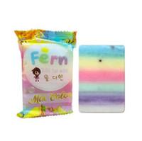 körper seifenmarken großhandel-OMO Plus Rainbow Seife Fruitamin Seife Mix Farbe plus fünf gebleichte Haut Gluta Thailand Rainbow handgemachte Seife CCA10584 50St