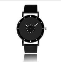 ingrosso uomini caldi bianchi brevi-Hot Design cinturino in pelle orologio elegante orologio da polso al quarzo uomo donna orologio nero bianco breve unisex orologi analogici relojes maschili