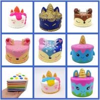 ingrosso burger squishy-New Squishy Toy unicorn cake Gelato Football seahorse acaleph burger cat squishies Lento aumento 10 cm 15 cm Morbido Spremere carino regalo bambini t