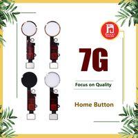 iphone ev düğmesi esnek toptan satış-IPhone 7 için Ev Düğme Kabloları Dönüş Anahtar Menü Düğmeleri Ile Anahtar Cap Flex Tam Komple Meclisi Yedek parça Altın Gümüş Siyah gül