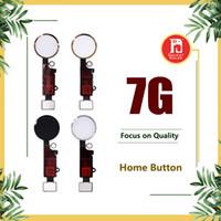 conjunto de cable flexible al por mayor-Para los botones del botón de inicio del iPhone 7 Botones del menú de la tecla de retorno Con la tapa de la llave Parte completa de reemplazo del ensamblaje completo Dorado Negro Rosa