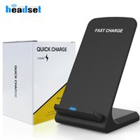 Wholesale 2 coils qi Fast Wireless Charger Charging Pad Stand for iPhone XS Max XR X Galaxy note9 s9 Plus Galaxy Note8 S8