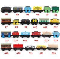 conjunto de trem magnético de madeira venda por atacado-53 Estilo De Madeira Veículos de Brinquedo De Madeira Trens Modelo de Brinquedo Trem Magnético Presentes para Meninos Meninas Grandes Crianças Brinquedos de Natal