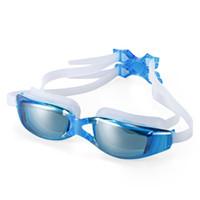 Wholesale anti uv swimwear for sale - Anti fog UV Protection HD Vision Swimming Glasses Wide Frame Swimwear Goggles