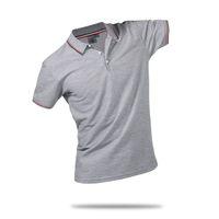 orange polo brauch großhandel-Sommer Baumwolle Fitness Männer Polo Shirt Kurzarm Kontrast Farbe Plus Size Großhandel Berühmte Hombre Camisa Polo Sportwear Custom Print Logo