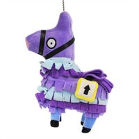 Wholesale Small size CM inch Fortnite plush dolls Stash Llama Figure Soft Stuffed Horse Animal Cartoon Toys Action Figure Toys Kids Gift B001