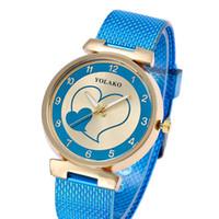 quarz herzform uhren großhandel-Frauen Fashion Uhren Heart Shaped Marke Analog Alloy Dial Quarz Luxus Uhr Armband Armbanduhren Geschenke Relogio Feminino Reloj Mujer