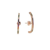 schmuck 925 silber earing großhandel-2018 echte 925 Sterlingsilber-Stange langer Bolzen-Ohrring mit Farbe Zirconia Ohrring für Frauen nettes Mädchen Hochzeits-Manschette, die earing Art und Weiseschmucksachen bördelt