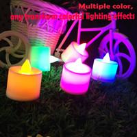 ingrosso candele decorative a batteria-NUOVO LED Candele senza fiamma Tealight Cup Battery Operated per la decorazione della festa di compleanno di nozze di Natale