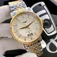 modern su geçirmez saatler toptan satış-Erkek Kol Saatleri 39mm Paslanmaz Çelik Kasa Askısı Beyaz Kadran Su Geçirmez Otomatik Mekanik Hareketi Modern Unisex Saatler