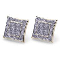 Wholesale geometric earrings for sale - Hiphop Stud earrings for women men gifts Luxury boho Zircon rhombus Dangle earrings gold plated Vintage geometric Jewelry new