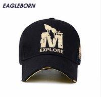 ingrosso caps wholsale-[EB] cappello berretto da baseball con cappuccio di marca wholsale gorras 6 pannelli cappelli di snapback hip hop berretto da lupo per uomo donna unisex