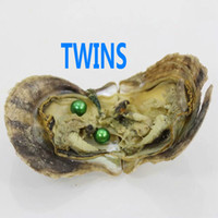Wholesale TWINS Saltwater Round Pearl mm Colorful akoya round AAA pearl in oyster with vacuum packing