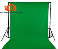 Wholesale green fabric background - 1.5*3M 5 x10FT Photography Studio Non-woven Cloth Backdrop,Chroma Key Solid Color Fabric Background,Black White Green(optional)