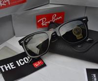 Wholesale mirror sunglasses for sale - Real picture mm Ray Sunglasses Men Women Brand Eye Sun Glasses Bands Mirror Lenses BEN bans Sunglasses with box cases