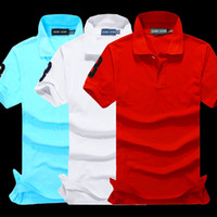 Wholesale Short Sleeve Shirt Office - Business Office Polo Shirt New Brand Men Clothing Solid Men Big Horse Embroidery Polo Shirts Casual Poloshirt Cotton Breathable High Quality