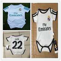 Wholesale kids Real Madrid Baby soccer Jerseys Short Sleeved Jumpsuit Baby Triangle Climb Clothes Loveclily SERGIO RAMOS Modric baby jerseys