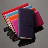 Wholesale iphone 5c leather wallet - Wholesale Wallet Leather Case Magnetic For Iphone4 5 5s SE 5c 6S 6 plus 7 7 plus