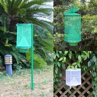 käfigfalle groihandel-Wiederverwendbare grüne Insektenfalle Bug ECO Suspension Fliegenfänger Käfig Nylon Netzwerk Outdoor-Tool Schädlingsbekämpfung 8sz4 F F