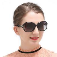 ingrosso big framed glasses retro-Donna lady Retro occhiali da sole polarizzati grande telaio classico moda BOW deco 2229 occhiali da sole guida specchio Occhiali googles eyewear a366