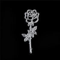 Wholesale rose template resale online - Rose Flower Metal Cutting Dies Lover Romantic Wedding Valentine Scraper Card Album Craft Embossing Stencils Template Dies