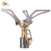 Wholesale ultralight backpacking equipment - LANSHAN Portable Mini Outdoor Folding Gas Stove Igniter Ultralight Camping Gas Stove EDC Tool for Camping Equipment Hiking Picnic