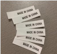 Wholesale clothing labels online - Made in China Label Tape Washed Customized Clothes Number Standard Wash