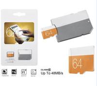 128gb perakende sd kart toptan satış-2020 Yeni Varış Sınıf 10 Turuncu EVO 128 GB 64 GB 32 GB 16 GB 8 GB TF Hafıza Kartı C10 Flaş SD Adaptörü Perakende Paketi 80mpbs 100 mbps u1 u3 Ultra