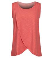 xxxl женские майки оптовых-Беременность материнства топы грудное вскармливание рубашка кормящих топы танк для женщин грудное вскармливание рубашка одежда 4 цвета на складе