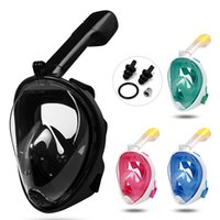 Wholesale adult diving mask - Adult Teenager Diving Mask Underwater Scuba Anti Fog Full Face Diving Mask Snorkeling Set with Anti-skid Ring Snorkel c002-3